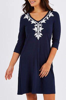 Hatley NEW Womens Knee Length Dresses Elise Dress SolsticeEm