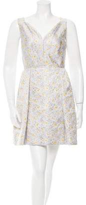 DELPOZO Brocade Mini Dress