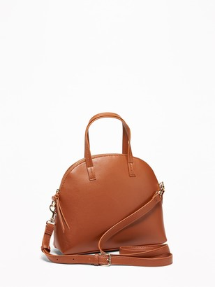 Old Navy Faux-Leather Dome-Shaped Satchel for Women