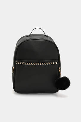 Ardene Faux Leather Chain Backpack