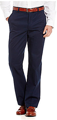 Brooks Brothers Brooks Brothers Clark Fit Flat-Front Pieced Dyed Chino Pants