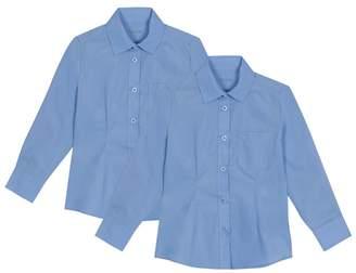 Debenhams Set Of 2 Girls' Blue Blouses
