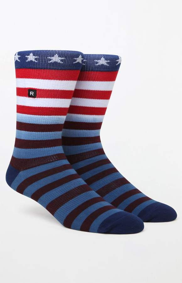 Richer Poorer Patriot Stars & Stripes Crew Socks