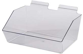clear SSWBasics 12 x 5 x 9 inch Plastic Dump Bin - For Slatwall - Set of 2