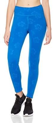 7Goals Women's Printed Hibiscus Workout Legging