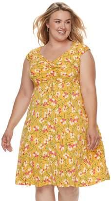Plus Size Suite 7 Floral Dress
