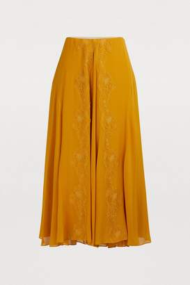 938e5f55b7 Silk Midi Skirt - ShopStyle