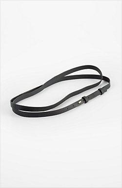 J. Jill Skinny leather double-wrap belt