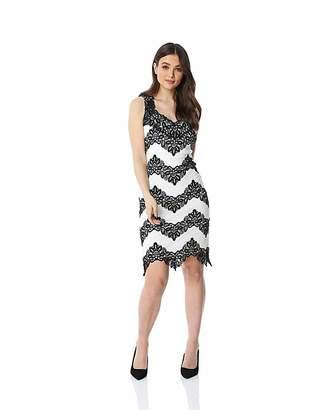 99eea09970eef Roman Originals Roman Contrast Lace Fitted Dress
