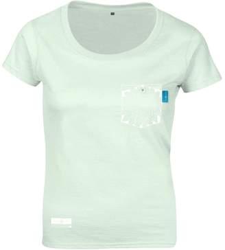 ANCHOR & CREW - Honeydew Green Explorer Print Organic Cotton T-Shirt (Womens)