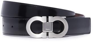 Salvatore Ferragamo Double Gancio Reversible Belt $340 thestylecure.com