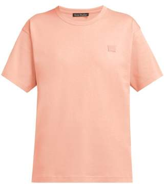 Acne Studios Nash Face Cotton Jersey T Shirt - Womens - Light Pink
