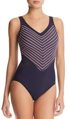 Miraclesuit Lucky Stripe On Point One Piece Swimsuit