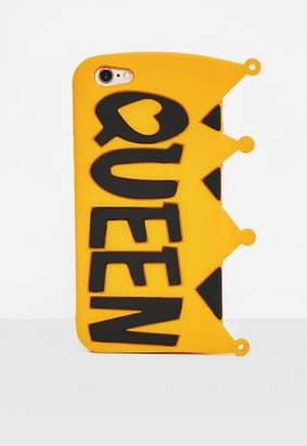 Missguided Yellow Silicone Queen Crown I Phone 6 Case