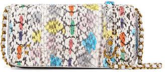 Jerome Dreyfuss Bob Printed Elaphe Shoulder Bag - White