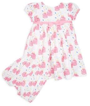 Rachel Riley Baby's & Toddler's Two-Piece Birthday Cake-Print Cotton Dress and Bloomers Set