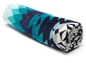Pendleton Turquoise Ridge Oversized Cotton Jacquard Towel - Mens - Blue