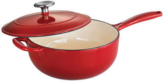 Tramontina Gourmet Enameled Cast Iron 3 Qt. Saucier with Lid
