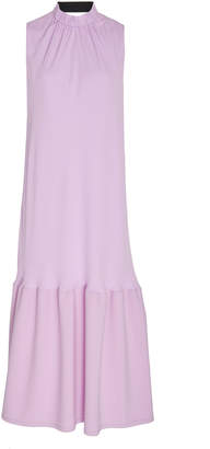 Tibi Ruffled Crepe Midi Dress Size: 0