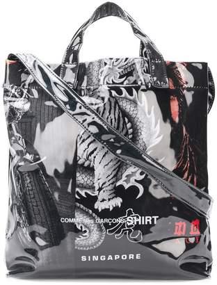 Comme des Garcons patterned shoulder bag