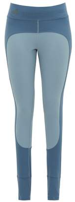 adidas by Stella McCartney Comfort Two Tone Stirrup Leggings - Womens - Blue