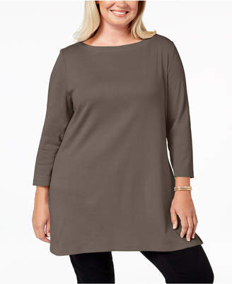 Karen Scott Plus Size Cotton Tunic Top