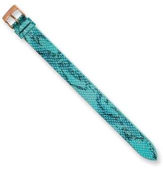 Moog Paris PY-16RG Python Texture Calf Leather Polished Finish Watch Strap