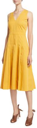 Loro Piana Mila Sleeveless Pintucked Cotton Sundress
