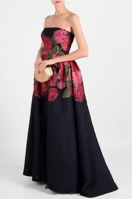 Carolina Herrera Bustier Jacqard Gown