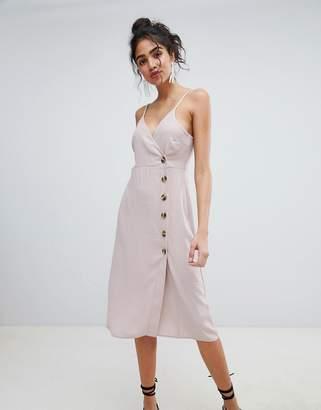 New Look Button Through Wrap Dress
