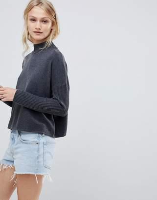 Asos DESIGN eco boxy sweater with ripple hem