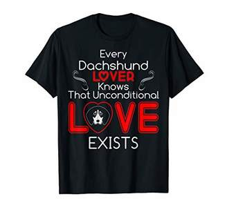 Dachshund Lover Knows Unconditional Love Exists Tshirt