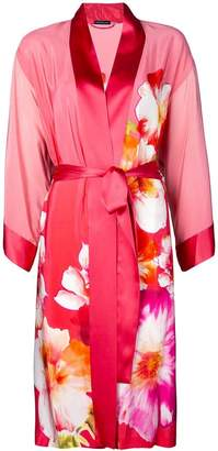 Josie Natori floral print belted robe