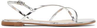 Gianvito Rossi Silver Strappy Flat Sandals
