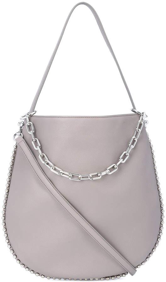 Alexander Wang silver chain cross body bag