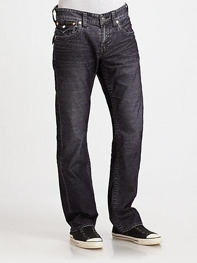 True Religion Ricky Straight-Leg Fine Wale Cord