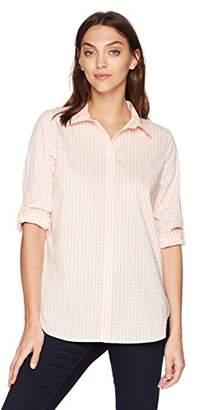 Calvin Klein Women's Gingham Boyfriend Shirt