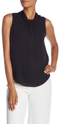 Rebecca Taylor Mock Neck Sleeveless Top