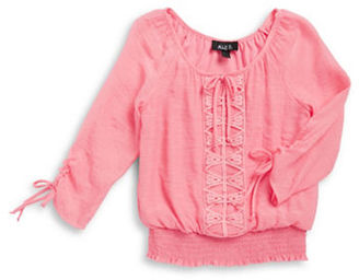 Ally B Girls 7-16 Girls Guaze Peasant Top $42 thestylecure.com