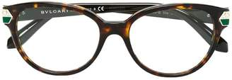 Bulgari round frame glasses