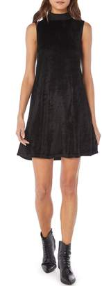 Michael Stars Vali Velvet Mock Neck Shift Dress