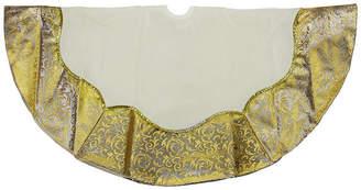 Asstd National Brand 48 Two-Toned Metallic Gold Flourish Christmas Tree Skirt