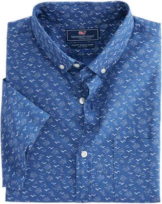 Vineyard Vines Short-Sleeve Mini Seagulls Slim Murray Shirt