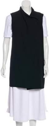 Vince Leather-Trimmed Wool Vest