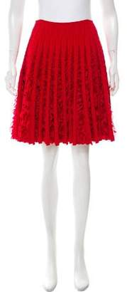 Alaia Ruffled Fit & Flared Skirt