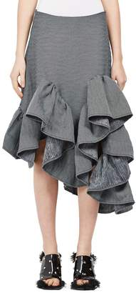 "Marques Almeida Marques""Almeida Women's Denim Ruffle Skirt"