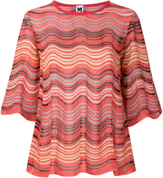 M Missoni wavy stripe knitted top