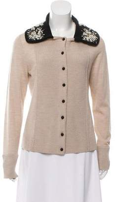 Tory Burch Merino Wool Long Sleeve Sweater