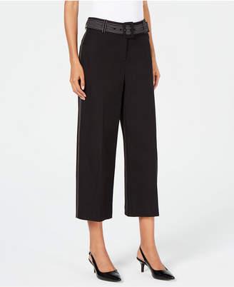 Alfani Petite Wide-Leg Capri Pants