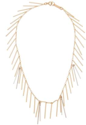 Isabel Marant Asymmetrical chain and bar-pendant necklace